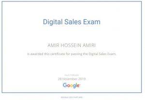 دارنده مدرک Google Sales